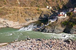 Alaknanda River - Image: Rudraprayag Confluence of Alaknanda and Mandakini