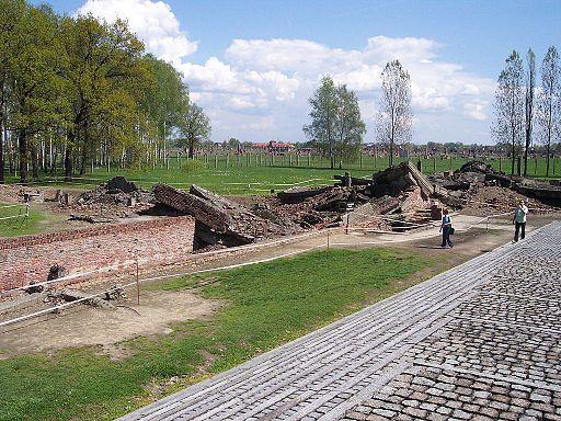 Ruin of Crematorium III in Auschwitz II (Birkenau)