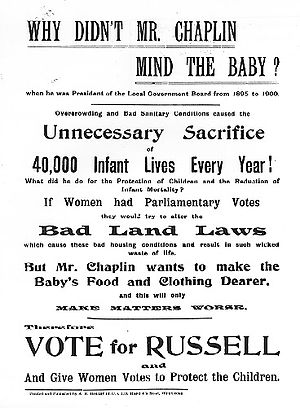 Campaign Poster of Bertrand Russell for the ca...