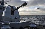 Russian cruiser Marshal Ustinov and HMS St Albans MOD 45165066.jpg