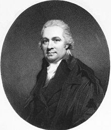 Engraved portrait of Rutherford