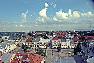Krosno Place in Subcarpathian Voivodeship, Poland