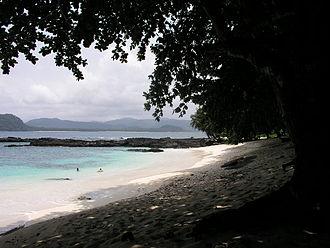 Ilhéu das Rolas - Image: São Tomé Praia Café