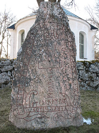 Runestone - The Stenkvista runestone in Södermanland, Sweden, shows Thor's lightning hammer instead of a cross. Only two such runestones are known.