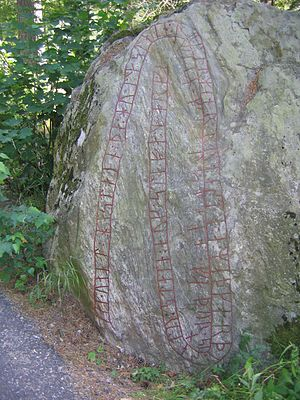 Fyrby Runestone - The Fyrby Runestone from Södermanland, Sweden.