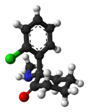 (S)-Ketamine ball-and-stick model
