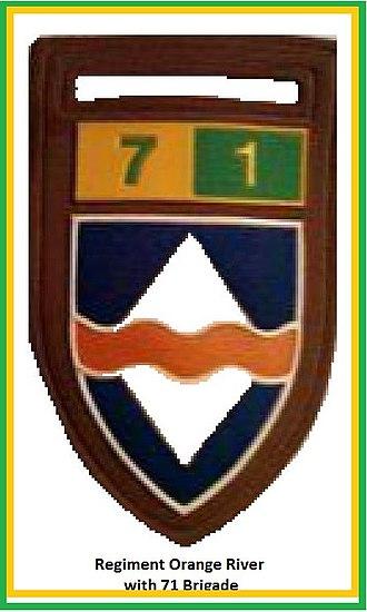 71 Motorised Brigade (South Africa) - Image: SADF 7 Division 71 Brigade Regiment Orange River Flash