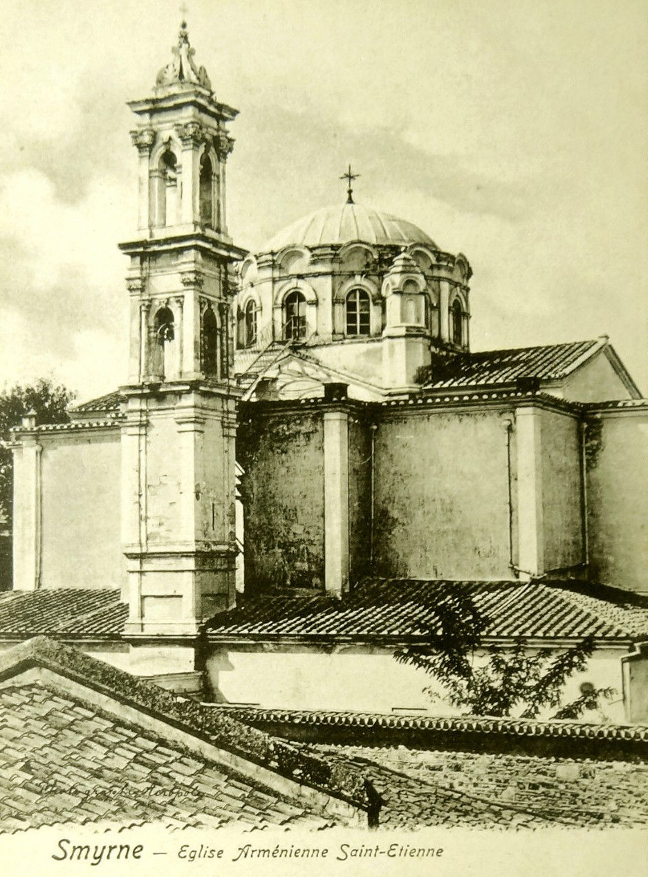 SAINT STEPHEN ETIENNE ARMENIAN CHURCH SMYRNA Postcard c. 1907