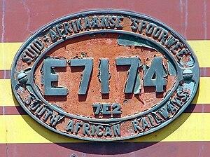South African Class 7E2, Series 1 - Image: SAR Class 7E2 Series 1 E7174 ID