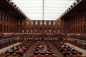 Saxon State and University Library Dresden - Main reading room of the Saxon State Library