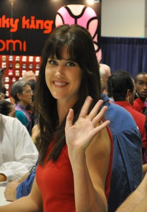 Sarah Lancaster - Sarah Lancaster at Comic Con 2010.