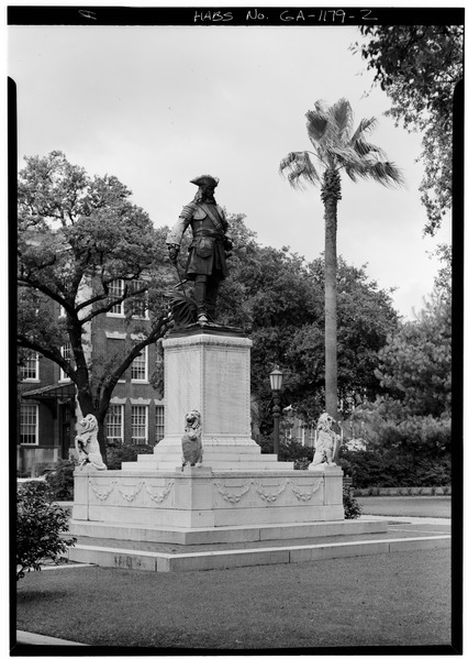 File:SOUTH FRONT AND WEST SIDE - Chippewa Square Monument, Savannah, Chatham County, GA HABS GA,26-SAV,4-2.tif