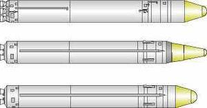 UR-100N - Image: SS 19 missiles