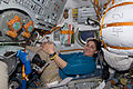 STS-133 Nicole Stott in a Soyuz spacecraft.jpg