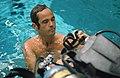 STS-41-G crew commander Crippen observes Preparations for Underwater EVA.jpg