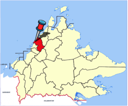 Location of Tuaran