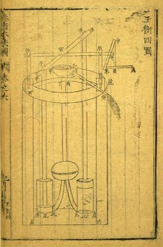 Sabatino de Ursis - The 1612 book in Chinese on Western hydraulics, by Sabatino de Ursis. It describes a traditional European force pump.
