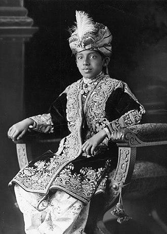 Sadeq Mohammad Khan V - Sadeq aged 15