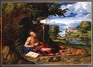 Saint Jerome Praying in the Desert