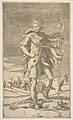 Saint Roch standing holding a staff in his left hand, a dog by his side MET DP812421.jpg