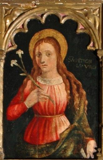 Saint Petronilla - A fictional portrait of Saint Petronilla.