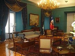 Salón Azul del Palacio de la Moneda