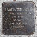 Salzburg - Elisabeth-Vorstadt - Südtirolerplatz Stolpersteine Hauptbahnhof - Lawida Solomacha.jpg
