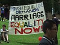 Same Sex Marriage Rally, State Library of Victoria, Swanston and La Trobe Sts, Melbourne City, Victoria, Australia 091128-16 (4140336636).jpg