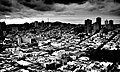 San Francisco from Coit Tower (B&W) (2082720884).jpg