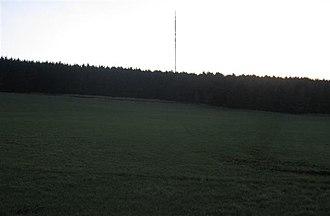 Sandale transmitting station - Image: Sandale transmitter past Park Wood. geograph.org.uk 113453