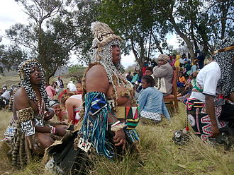 Traditional healers of South Africa - Sangomas greeting each other