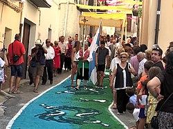 Santísimo Misterio Aguaviva, alfombrado de calles 03.jpg