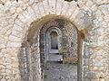 Santuario di Monte Sant'Angelo. Terrazza inferiore. Galleria prospettica lato occidentale. Ingresso al criptoportico 1.JPG