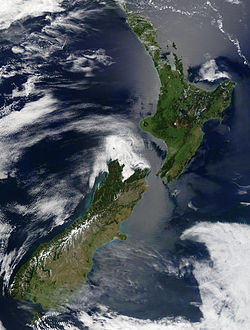 New Zealand Satellite image