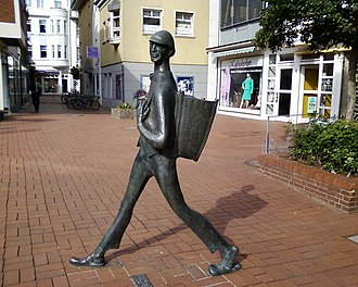 Dienstmann - Memorial for a Dienstmann in Peine, Germany