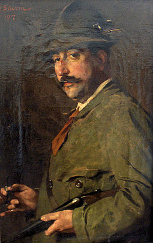 August Falise - August Falise; Painting by Georg Sturm, 1917