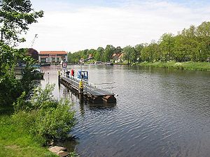 Teltow Canal - The canal near Kleinmachnow lock