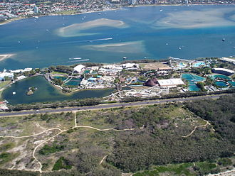 Sea World (Australia) - View from the Sea World Helicopter.