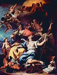 Sebastiano Ricci: Allegory of France as Minerva Trampling Ignorance and Crowning Virtue