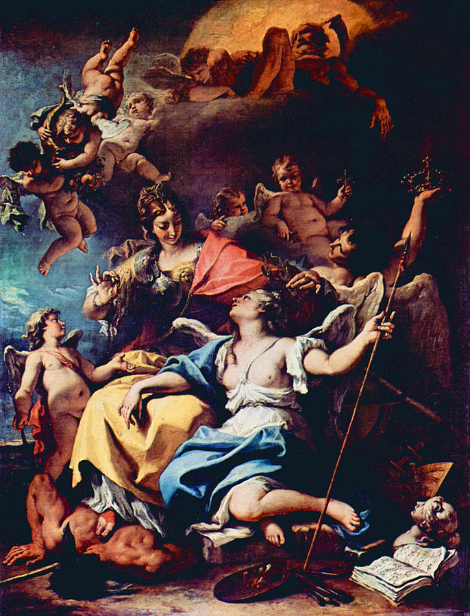 Allegory of France as Minerva Trampling Ignorance and Crowning Virtue