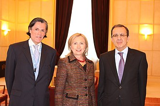 Sergei Ordzhonikidze - Sergei Ordzhonikidze (right) with Secretary of State Hillary Clinton and Pedro Oyarce Yuraszeck, Ambassador of Chile to the UNOG