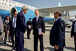 Secretary Kerry Is Greeted by Ambassador Beecroft Upon His Arrival to Cairo (26493225923).jpg