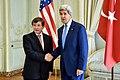 Secretary Kerry Meets With Turkish Foreign Minister Davutoglu in Paris to Discuss Gaza Strip Cease-Fire (14562261468).jpg