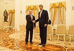 Secretary Kerry and Russian President Putin Pose for a Photo Before Their Bilateral Meeting Focused on Syria and Ukraine in Moscow (25942881421).jpg