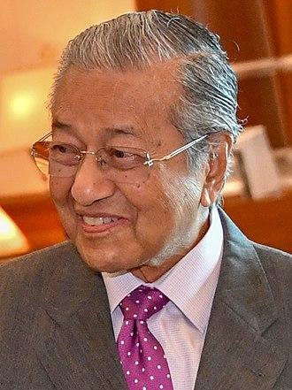 Seventh Mahathir cabinet - Image: Secretary Pompeo and Malaysian Prime Minister Mahathir Mohamad (43814329771) (Mahathir cropped)
