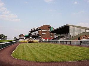 Sedgefield Racecourse - Image: Sedgefield racecourse grandstands