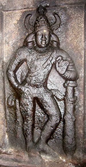 Avanibhajana Pallaveshwaram temple - Image: Seeyamangalam dvarapala 1