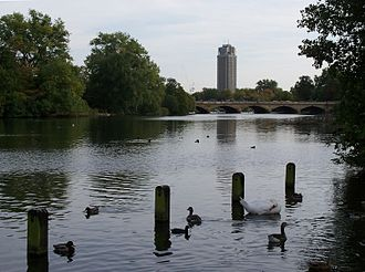 The Serpentine - Serpentine Bridge from Kensington Gardens