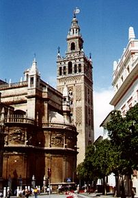 The Giralda minart in Sevilla, Spain.