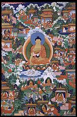 Shakyamuni Buddha with Avadana Legend Scenes